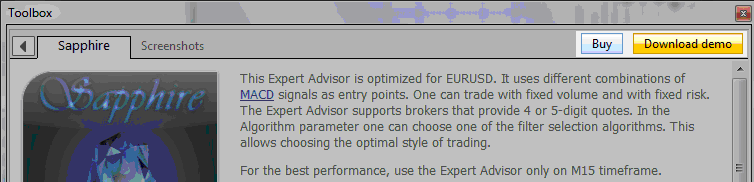 Example of how to get a Gold Expert advisor from the MT4 forum and MT5 forumMQL5 Market